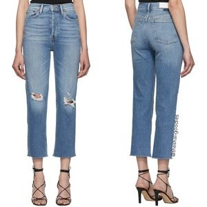 RE/DONE Ultra High Rise Stove Pipe Denim Jeans